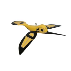 3D Black and Yellow Hummingbird