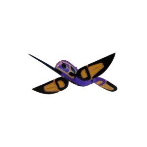 3D Purple and Yellow Hummingbird